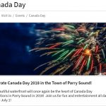 3 July Events – Canada Day in Parry Sound, Yard Sale and Moonlight Market at Tappattoo