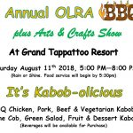 Hurry! BBQ Tickets at a Discount for OLRA Members until July 29th!